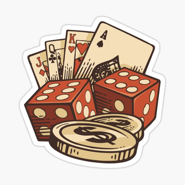 Cards And Dices Sticker
