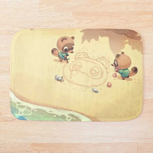 Animal Crossing Wallpaper Bath Mat