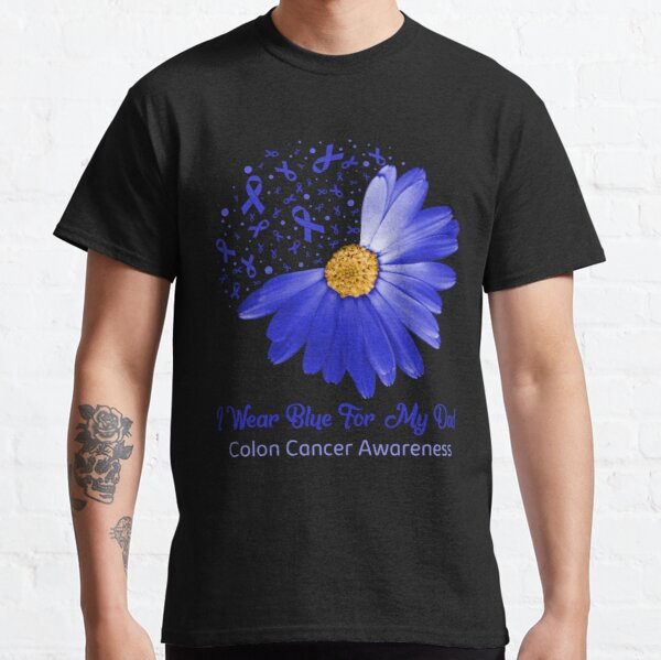 Colon Cancer Support Squad Blue Colorectal Cancer Awareness Ribbon T Shirt By Suckerhug Redbubble