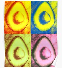 The One With The Avocado- Warhol Poster