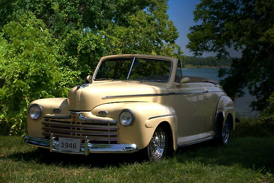 "1946 Ford Convertible ""Back to the Future"" by TeeMack"