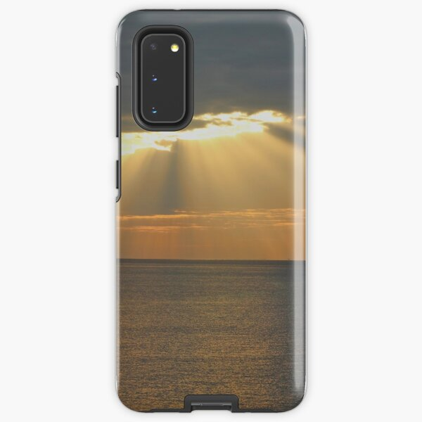Sunset over the sea Samsung Galaxy Tough Case