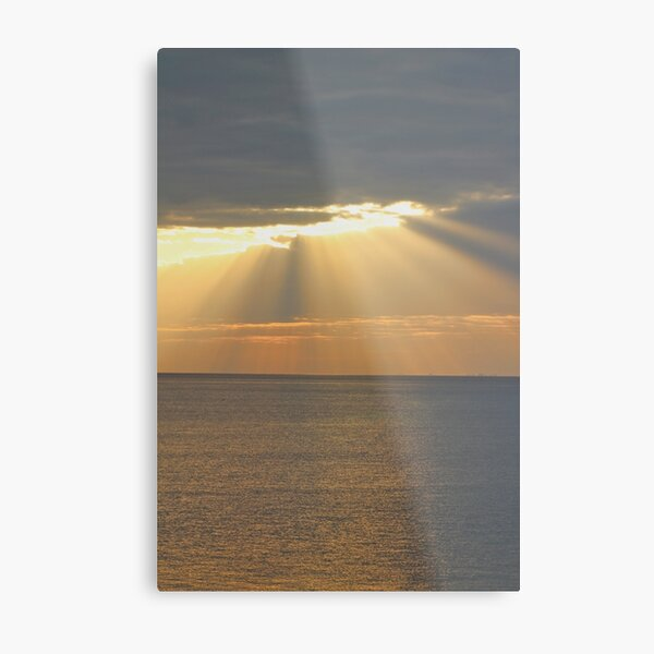 Sunset over the sea Metal Print