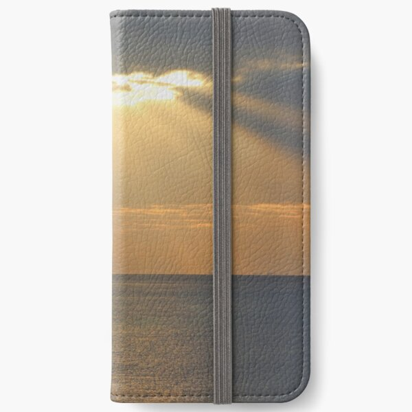 Sunset over the sea iPhone Wallet