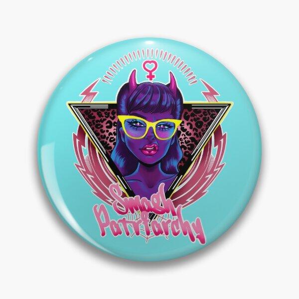 Smash Patriarchy button Pin