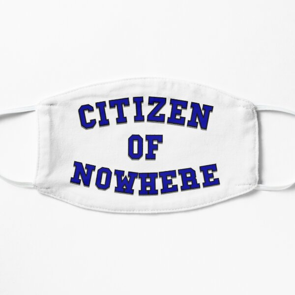 Citizen of Nowhere- Blue Small Mask