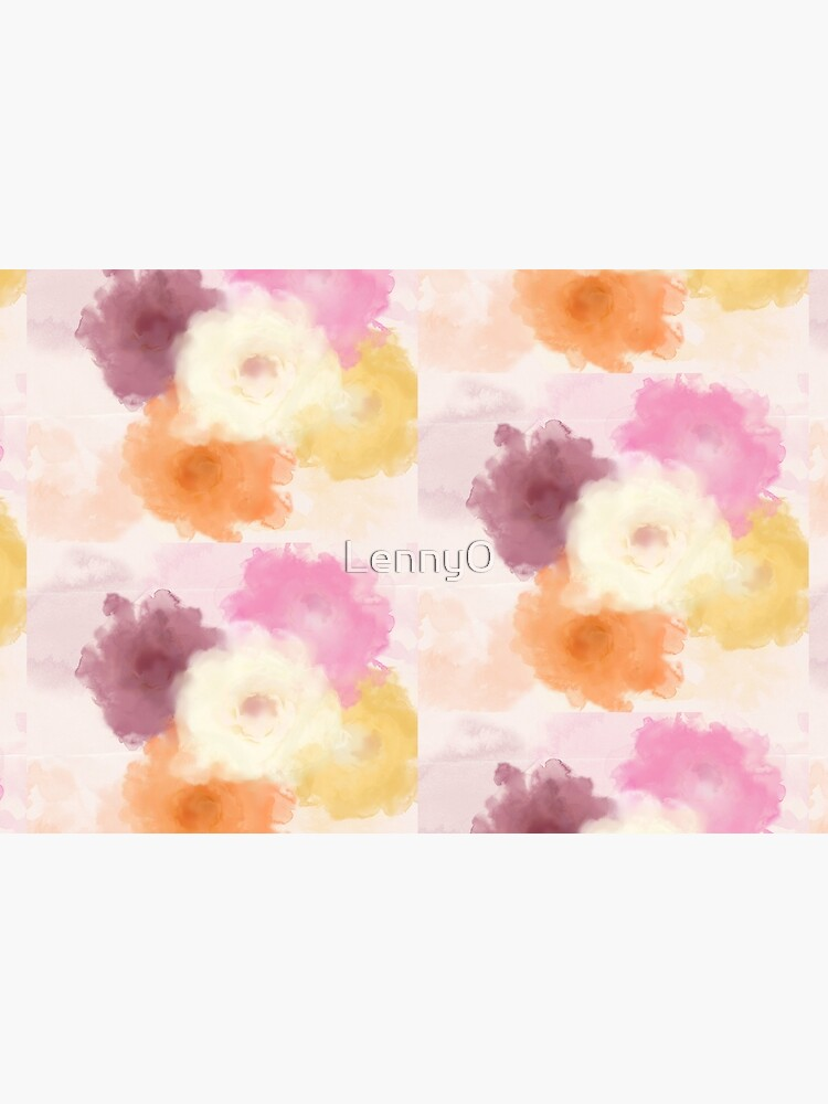 Soft Watercolor Rose Pattern by Lenny0
