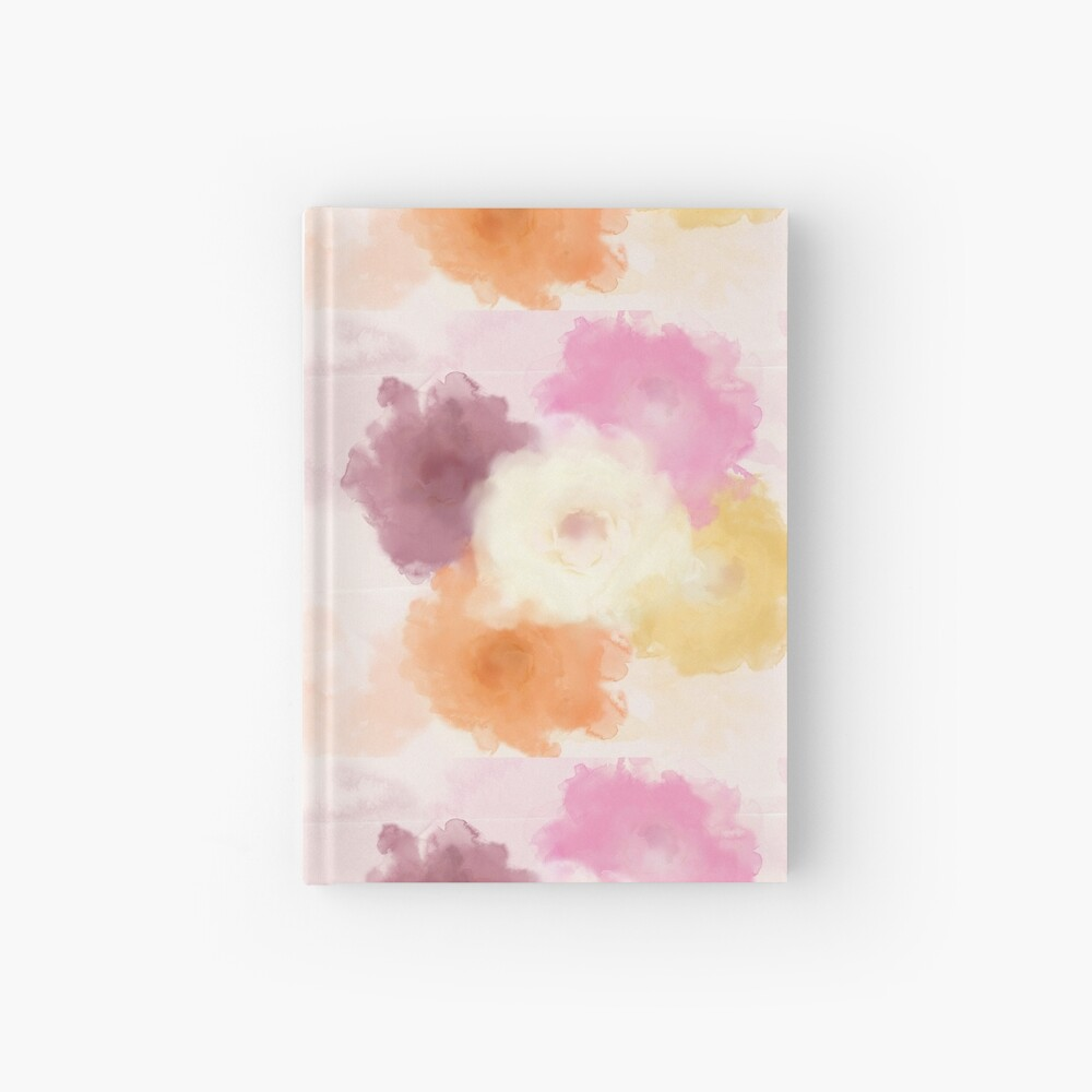 Soft Watercolor Rose Pattern Hardcover Journal