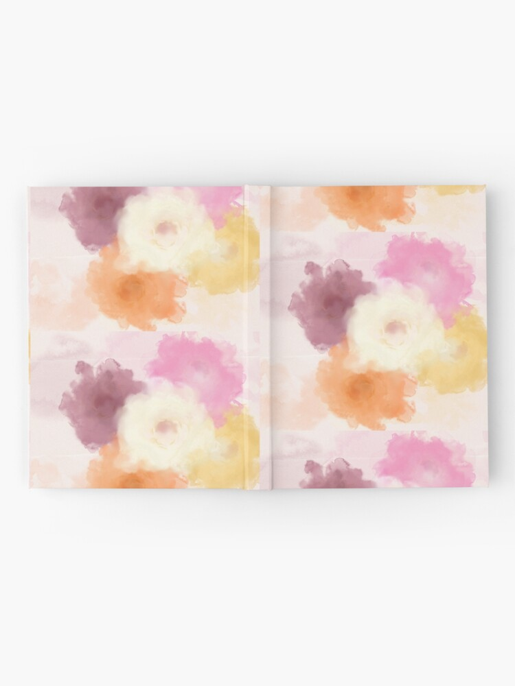 Alternate view of Soft Watercolor Rose Pattern Hardcover Journal