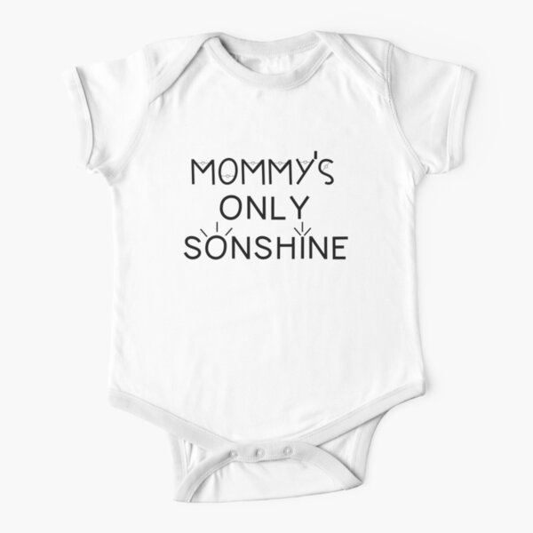 Mommy and Me Matching Shirts - Mommy's Only Sonshine  Short Sleeve Baby One-Piece