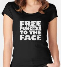 Free punches to the face Women's Fitted Scoop T-Shirt