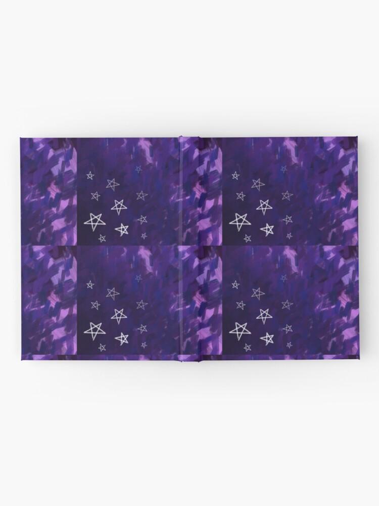 Alternate view of Dark Purple Nighttime, White Stars on Rough Sky Hardcover Journal