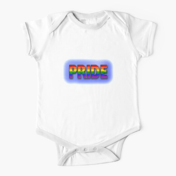 Rainbow PRIDE - Blue Short Sleeve Baby One-Piece