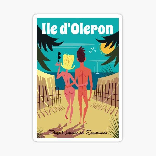 Ile d'Oleron poster Sticker
