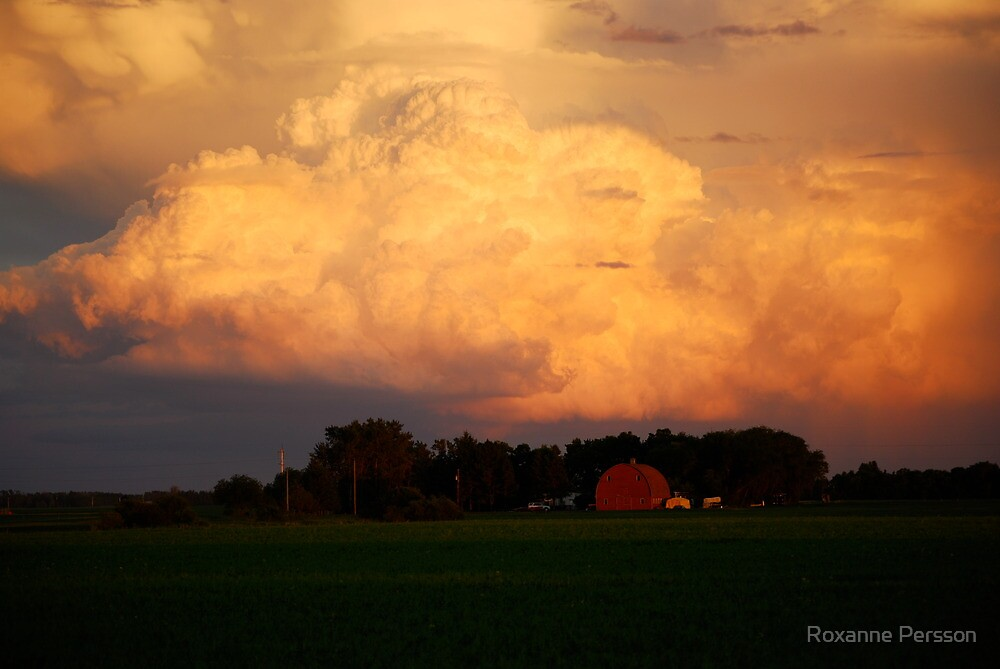 Clouds and Barn by Roxanne Persson