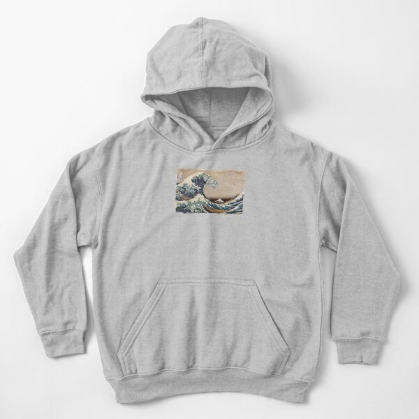 The Great Wave off Kanagawa Kids Pullover Hoodie