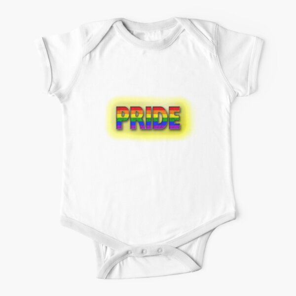 Rainbow PRIDE - Yellow Short Sleeve Baby One-Piece