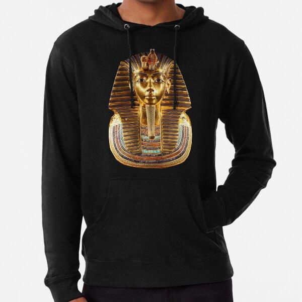 EGYPT. Egyptian. King Tut. Tutankhamun. Tutenkhamen. Tutenkhamon. Pharaoh, 18th dynasty, on Black. Lightweight Hoodie