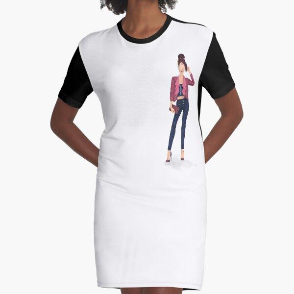 Standing Tall Graphic T-Shirt Dress