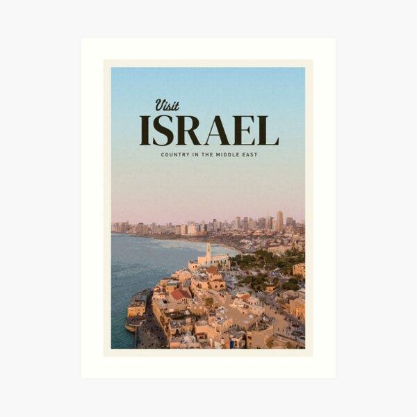 Visit Israel Art Print