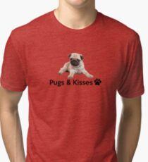 Pugs and Kisses! Tri-blend T-Shirt