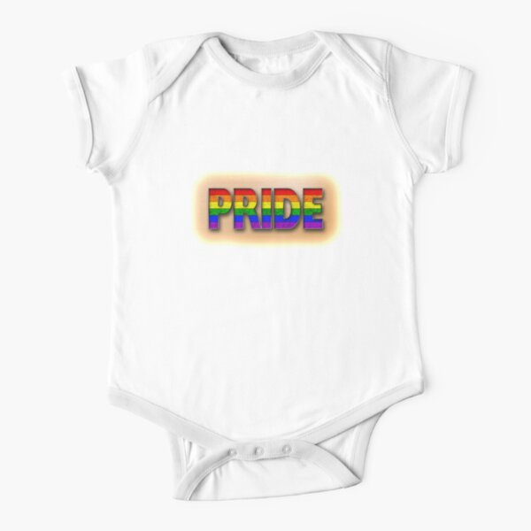 Rainbow PRIDE - Orange Short Sleeve Baby One-Piece