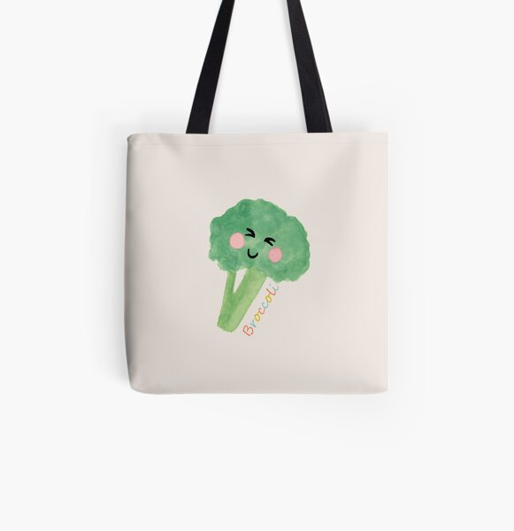 The Cheeky Broccoli All Over Print Tote Bag
