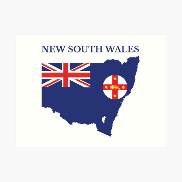 New South Wales, Australian State Art Print