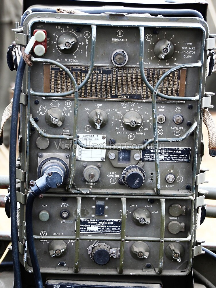 Vintage Military radio , US Army Signal corps , WWII by TomConway
