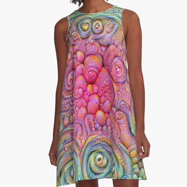 State of matter — Mesophase #DeepDream A-Line Dress