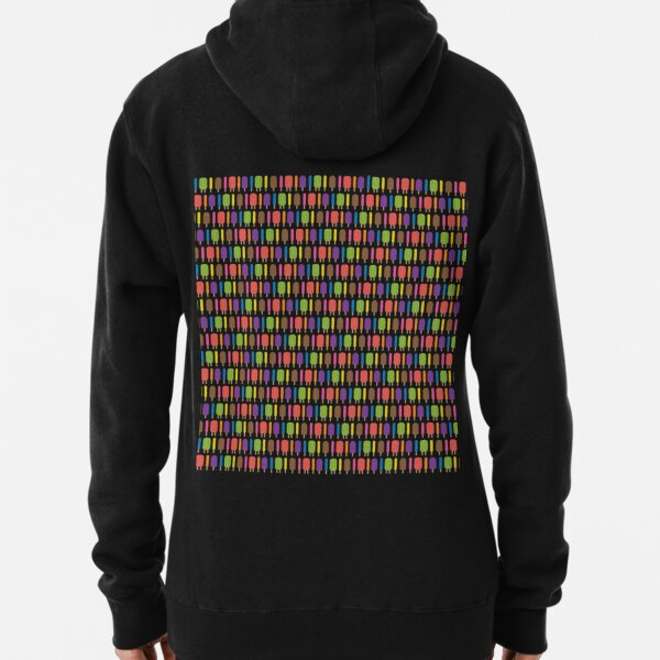 Popsicle Pattern Pullover Hoodie