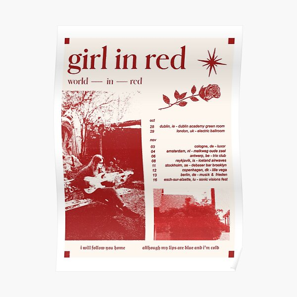 Girl in red tour Poster