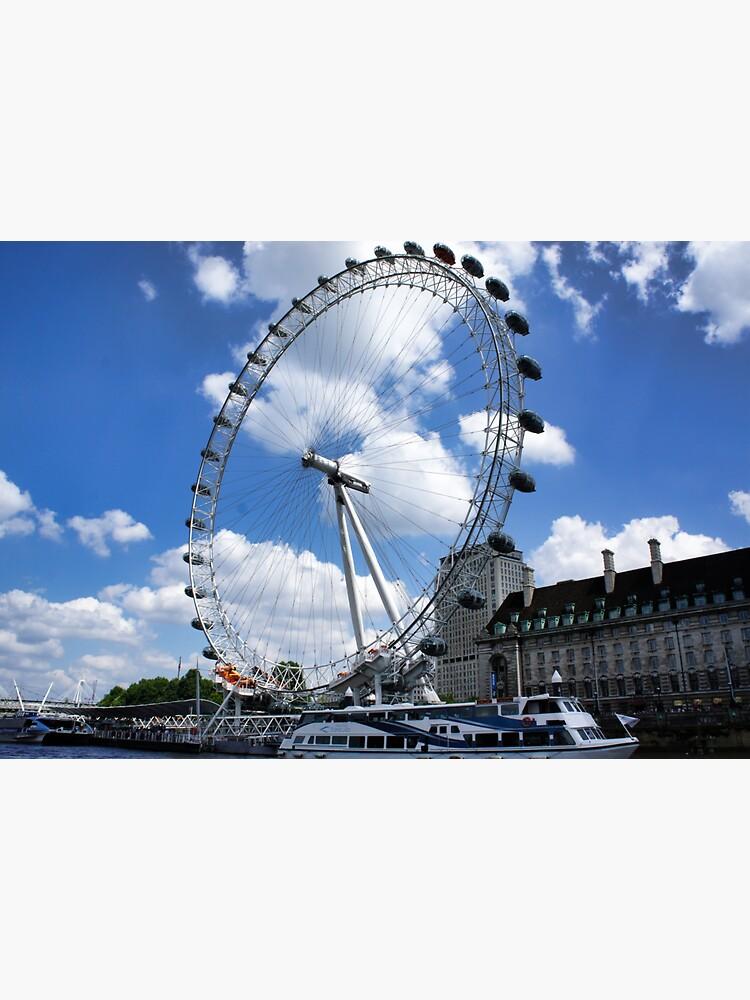 London Eye on a sunny day by santoshputhran