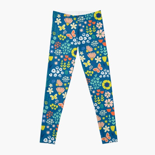Spring has Sprung in Blue Leggings