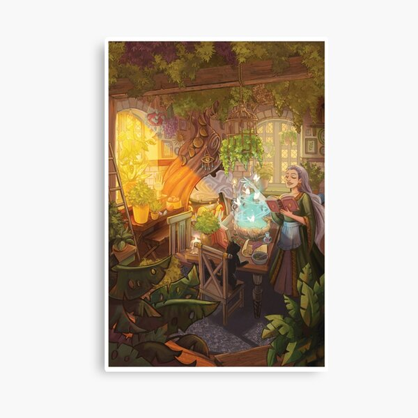 Witch's Cottage Canvas Print