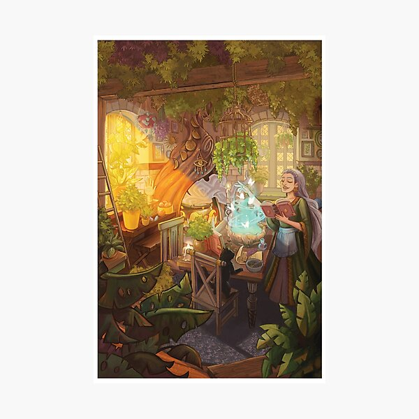 Witch's Cottage Photographic Print