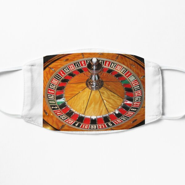 Las Vegas casino roulette wheel on Tee Shirt, cards, prints by Tom Conway Art Mask