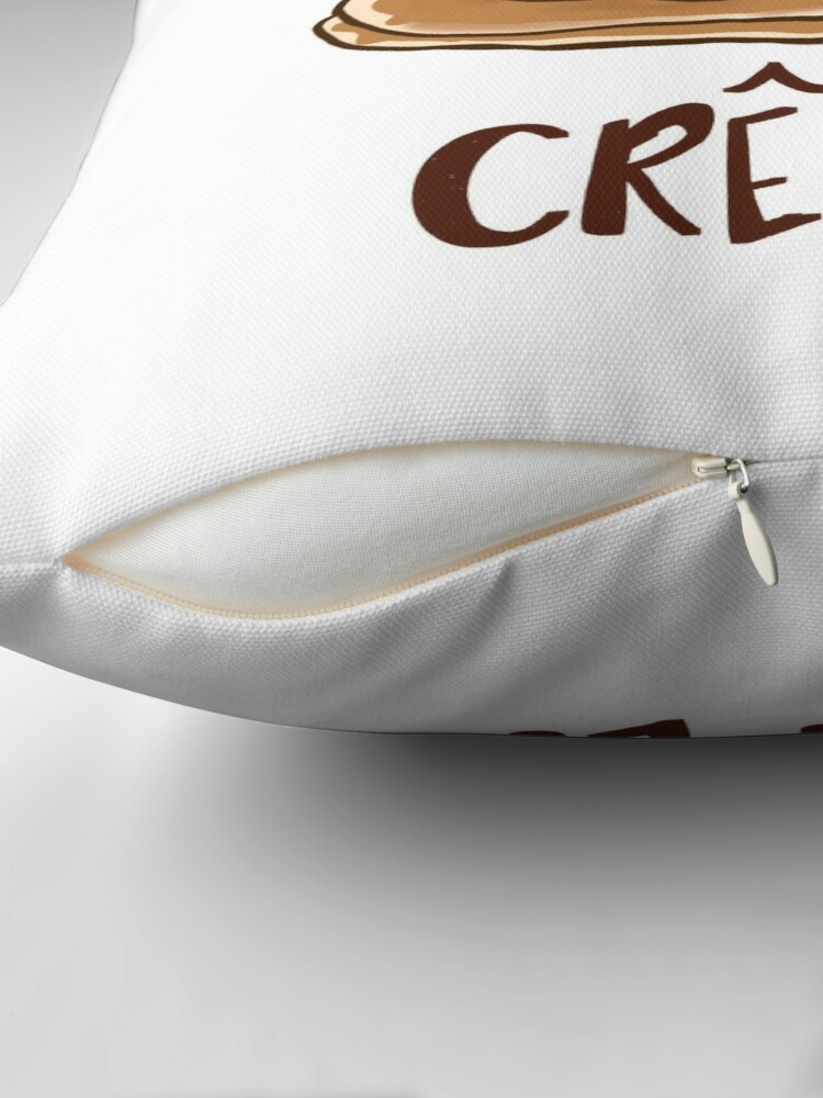 Alternate view of Oh Crepe! Throw Pillow