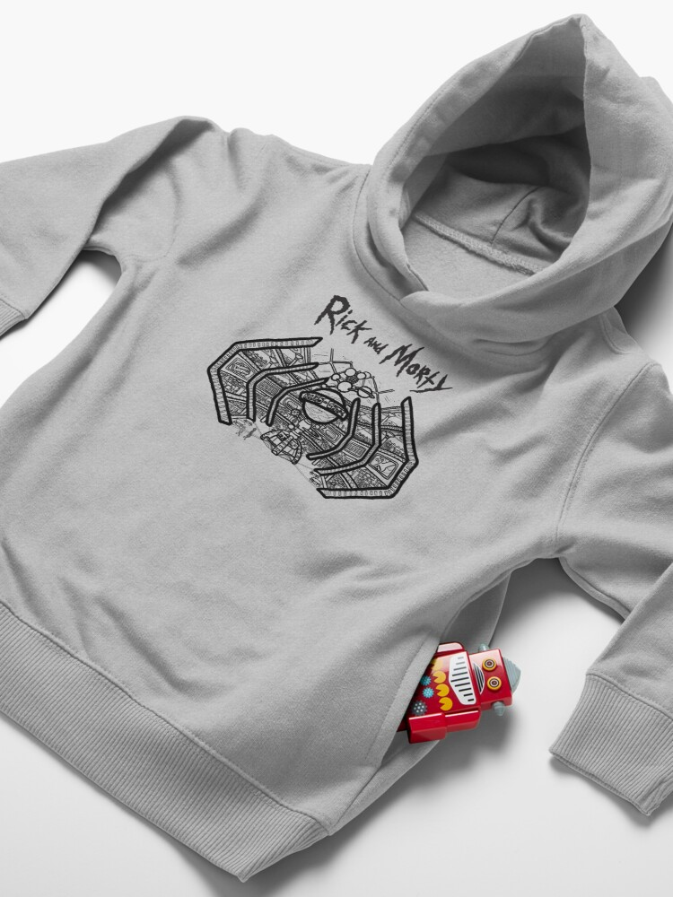 Alternate view of Blips and Chitz | Rick and Morty Arcade Toddler Pullover Hoodie