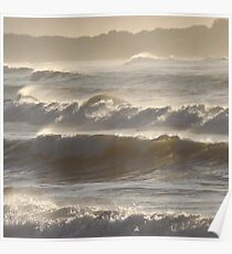 sunlight through the surf  Poster