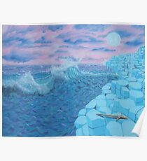 Giants Causeway seascape Poster