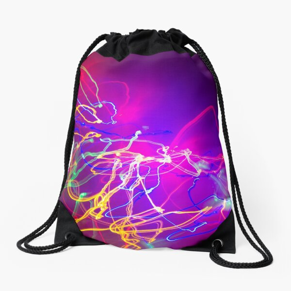 Electric Love purple is the future Drawstring Bag