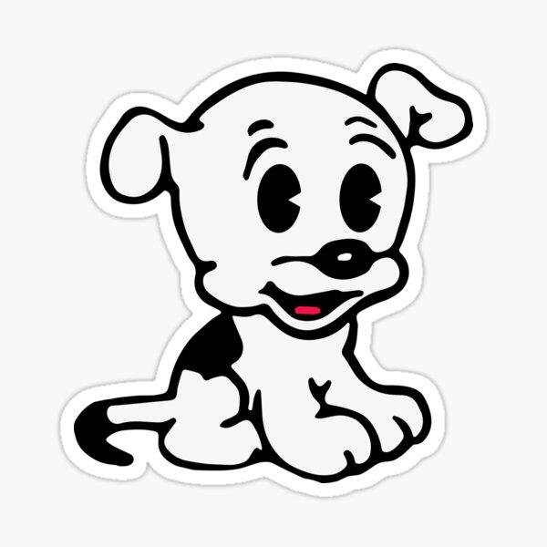 Pudgy, Mrs Boop Puppy Companion, diseño para arte de pared, impresiones, carteles, camisetas, hombres, mujeres, niños Pegatina