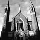 Sacred Heart Cathedral, Bendigo. B&W by Matthew Walmsley-Sims