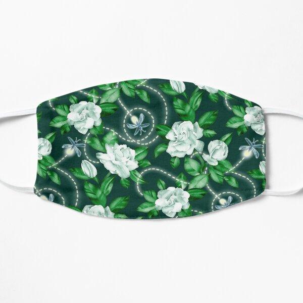 Midnight Sparkles - Gardenias and Fireflies in Emerald Green Mask