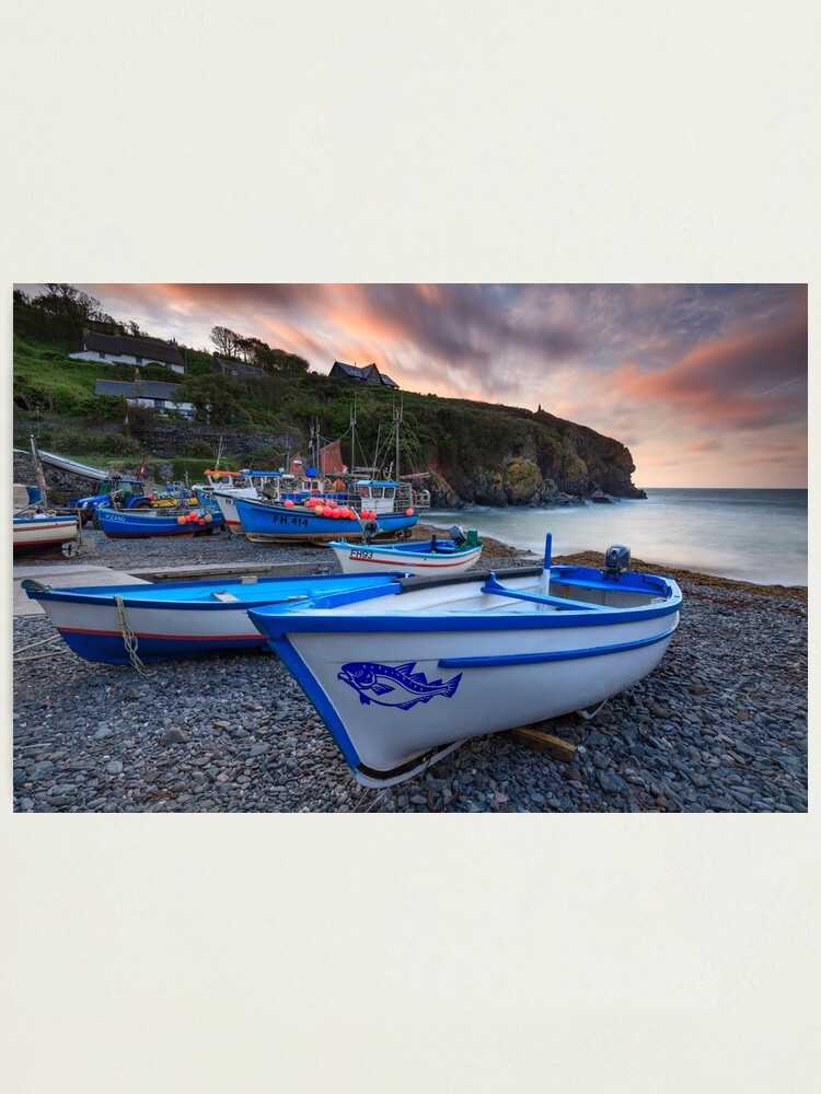 Alternate view of Boats at Sunrise (Cadgwith) Photographic Print