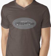 Typographic Impala. Mens V-Neck T-Shirt