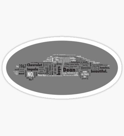 Typographic Impala. Sticker