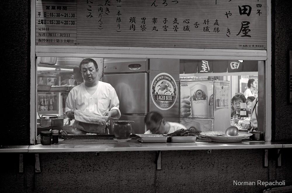 Tokyo take away window - Japan by Norman Repacholi