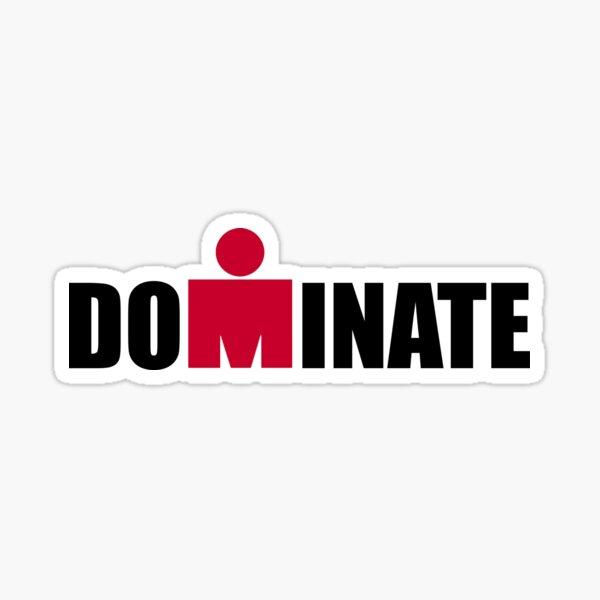 Ironman Dominate Triathlon Sticker